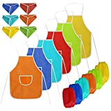 Children's Artist Aprons, Coxeer Painting Aprons Art Smock Fabric Artists Aprons for Kids(with Hats & Oversleeves )