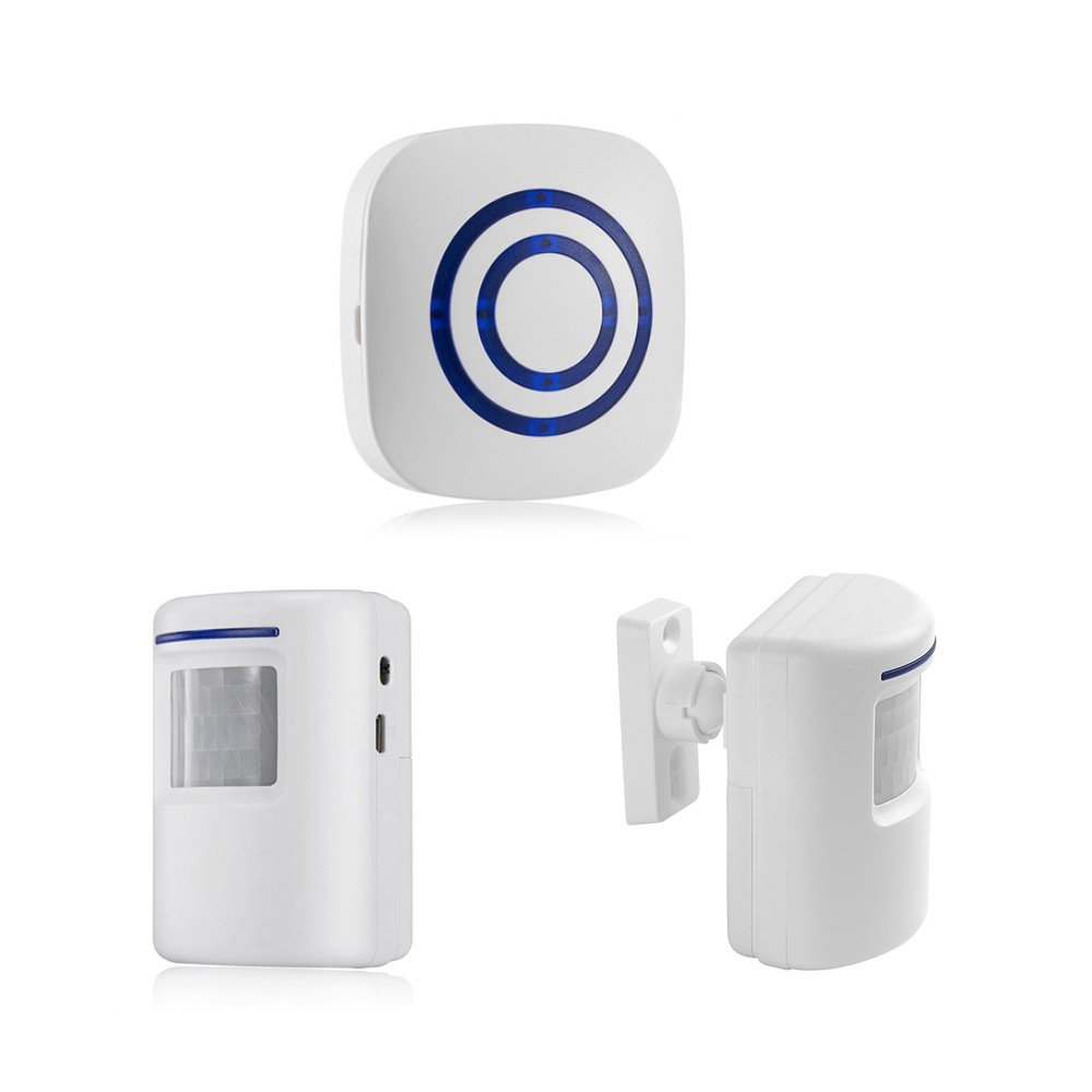 Wireless Home Security Driveway Alarm System with 2 Infrared Motion Sensor Detector and 1 Plug-in Receiver