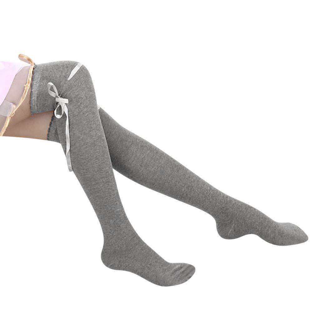 conqueror Chaussettes montantes Femmes Nouveau sur les cuisses de genou Haut coton Bas longues bottes de bonneterie tricotée Chaussettes