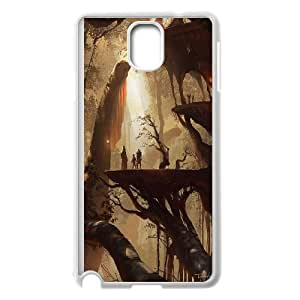 Concept City Fairy Village Hard Shell Cell Phone Case Cover for Samsung Galaxy Case Note 4 HSL470288
