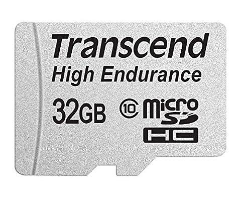 TRANSCEND INFORMATION 32GB High Endurance Microsd Card with Adapter (TS32GUSDHC10V) - Card Microsd Card