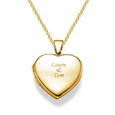 four oval dp com quot picture locket engraved amazon lockets yellow gold