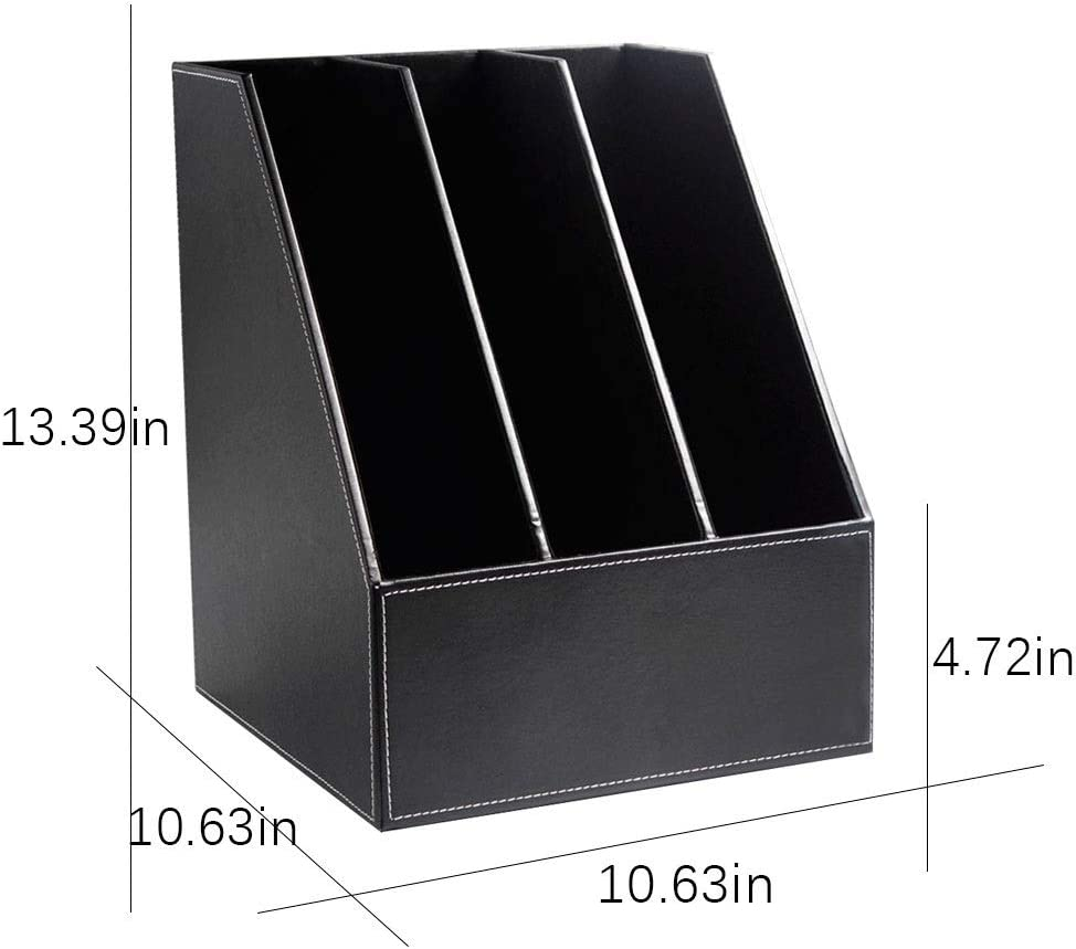 Amazon.com: YCYG Desk Organizer, File Holder Leather, 50 Upright