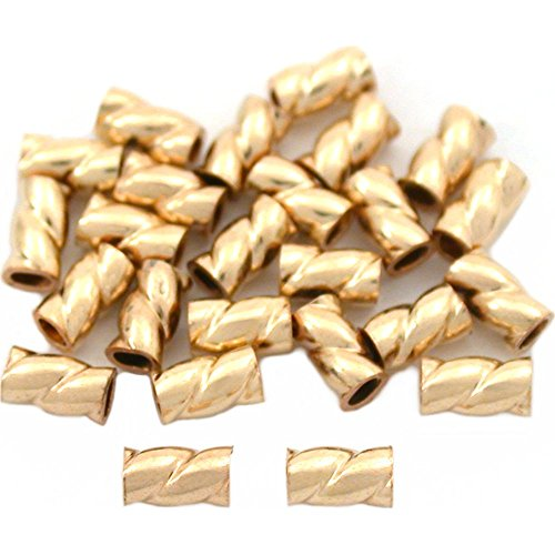 25 Gold Filled Crimp Tube Beads Jewelry Beading ()