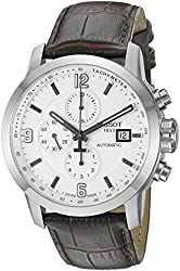 Tissot Men's Swiss Automatic Stainless Steel and Brown Leather Dress Watch (Model: T0554271601700)