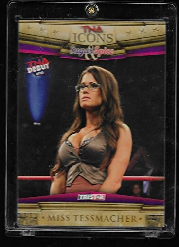 Brooke Tessmacher 2010 TRISTAR TNA Icons Wrestling Debut Rookie Card # 51 - TNA Knockout - Stored in a Protective Plastic Display Case!! -