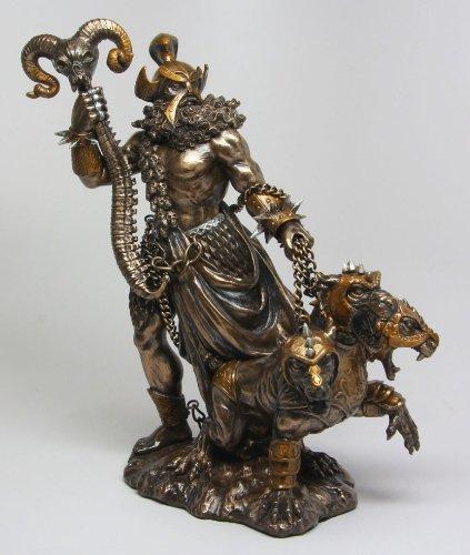 GREEK GOD OF UNDERWORLD HADES WITH CERBERUS STATUE PLUTO ...
