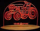 "1948 Empire Tractor Acrylic Lighted Edge Lit 13"" LED Farm Equipment Sign / Light Up Plaque USA Original"