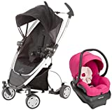 Quinny Zapp Xtra Mico AP Travel System, Rocking Black - Bright Rose