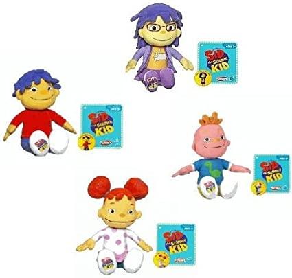 Amazon.com: Sid the Science Kid Plush Set of 4 Includes: Sid ...