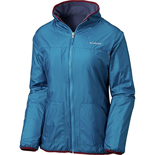 - Columbia Mountain Side Reversible Fleece Sweater, Medium, Lagoon