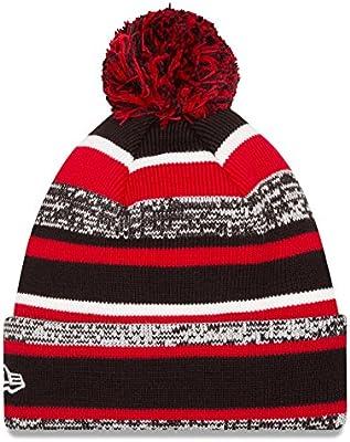 5560ec39504 New Era NHL Sport Cuffed Knit Hat with Pom. Chicago Blackhawks 2014 Sport  Knit Hat with Pom