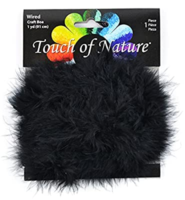 Touch of Nature 1-Piece Feather Marabou Craft Boa with Wire Center for Arts and Crafts, 1-Yard
