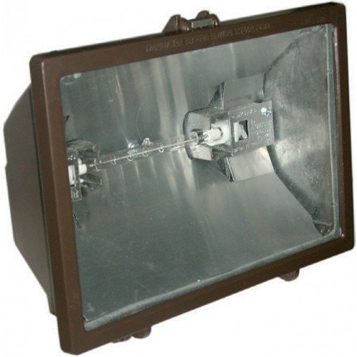 QH500-WH 500W Outdoor Quartz Flood Light W/ 120V Lamp -Wht - Orbit Ceiling Lamp