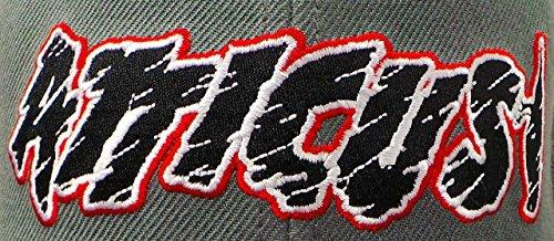 de y Negro Rojo Gorra Cortado Logotipo Gris béisbol Atticus TAqFz6