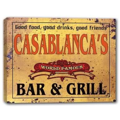 CASABLANCA'S World Famous Bar & Grill Canvas Print 24