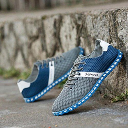 Uomo Sneakerboots Casual BeautyTop Sneakers Sneakers Scarpe Scarpe Maglia Nuovo Ballerine Sportive Bordo Grigio Traspiranti Uomo Casuale qxOr54wYWO