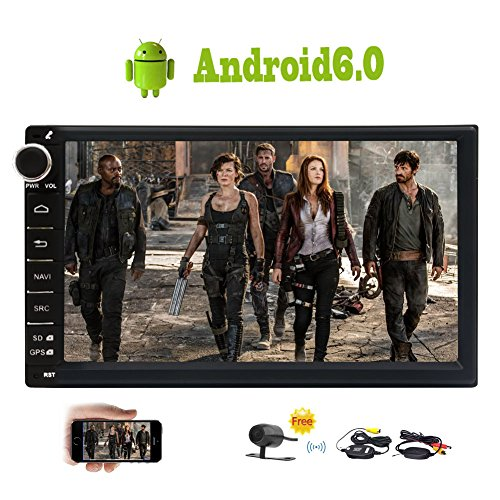 Free Wireless Rear Camera Included! Eincar Double Din Android 6.0 Quad Core Car Stereo Head Unit 7