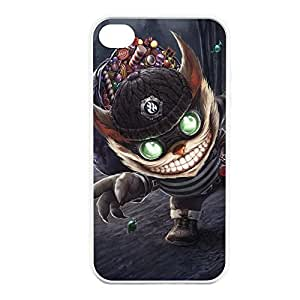 Ziggs-004 League of Legends LoL case cover for Apple iPhone 4 / 4S - Rubber White