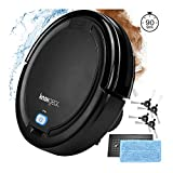 Knox Robot Vacuum Cleaner and Mop – Dual Rotating Brushes for Hardwood Floors, Tiles, Carpets, Pet Hair – Smart Anti Fall Sensor, 90 Minute Run Time - 4 Side Brushes and 2 x HEPA Filters
