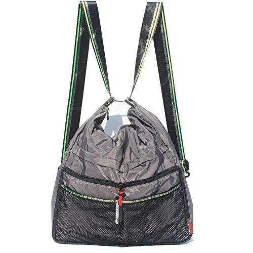 Waterproof Nylon Shoulder Bags Fashion Nylon Backpacks Multi Function Light Handbag Women's Totes Crossbody Bag (Gray) by Alpaca Go