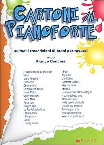 Amazonit Cartoni Al Pianoforte Spartiti Per Ragazzi Franco