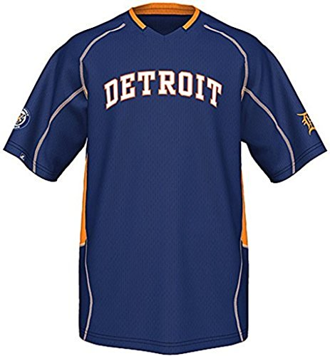 (VF Detroit Tigers MLB Majestic Cooperstown Vintage Mens Champ Jersey Size 5XT)