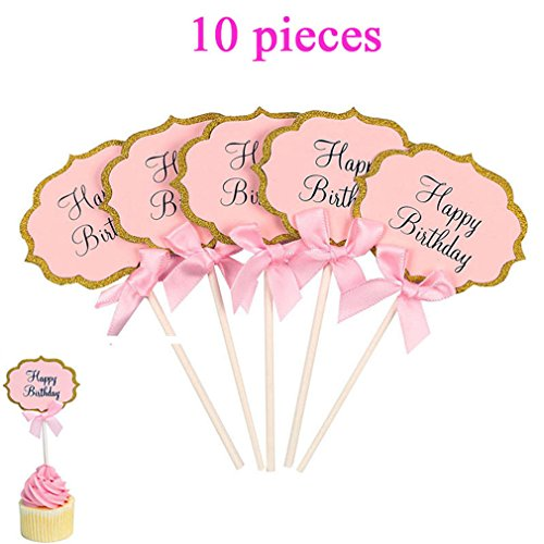 1St Birthday I Am One Kraft Paper Banner Baby Boy Girl My 1 Party Decoration First Year Garland Bunting Supplies 10pcs pink toppers