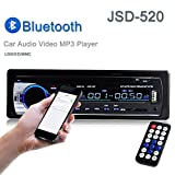 Car Stereo, Single Din Car Radio ,In-Dash Bluetooth Car Stereos Receiver MP3 Player /USB/SD Card/AUX/FM with Remote Control