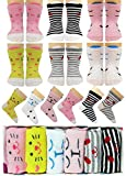 Tiny Captain Baby Girls Socks Anti Slip Cat Grip Sock Gift for 6m-24m Babies Year Old Girl, Non Skid...