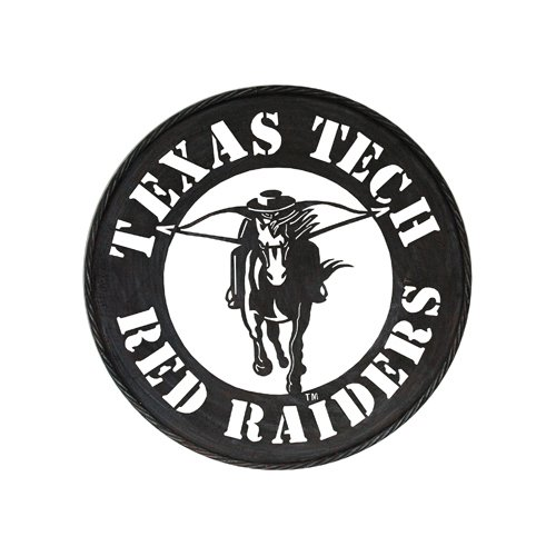 (Game Day Outfitters NCAA Texas Tech Red Raiders Circle Metal Wall Art, One Size, Multicolor)