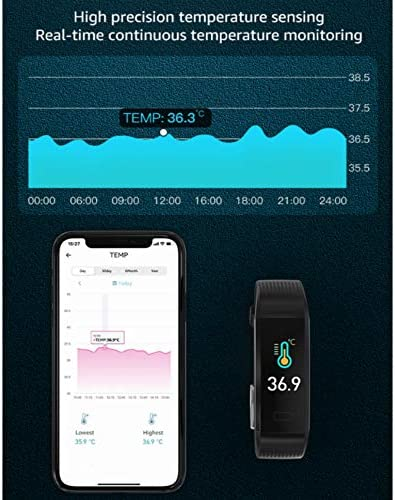 Fitness Tracker with Blood Pressure Heart Rate Sleep Monitor Temperature Monitor, Activity Tracker Smart Watch Pedometer Step Counter for iPhone & Android Phones for Kids Man Women 3
