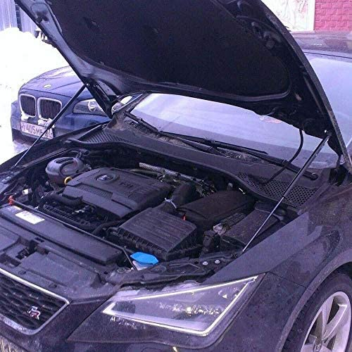 JINGLINGKJ Front Bonnet Hood Damper for RX8 2003-2011 Shock Absorbers Gas Struts Spring Rods 2Pcs Blue Carbon Fiber