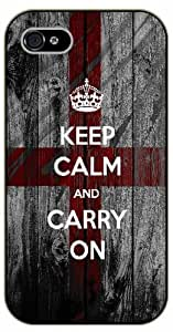 iPhone 4 / 4S Keep calm and carry on - black plastic case / Keep calm