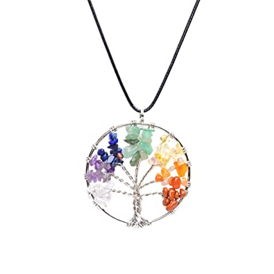 Image result for chakra crystal necklace