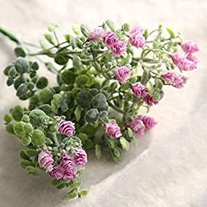 MARJON FlowersArtificial Fake Fresh Color Leaf Texture Clear Poisonless and Harmless High Realistic Appearance Flowers Milan Yangmei Floral Wedding Bouquet Home Decor 2