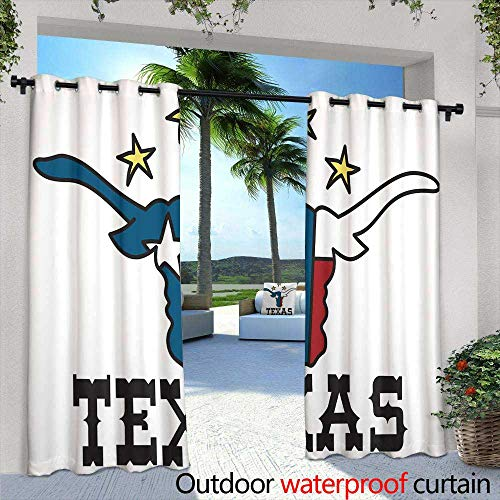 Eps Sign Vector - Patio Curtains,Cool Retro Cinema Sign EPS Vector,W96 x L108 Outdoor Patio Curtains Waterproof with Grommets