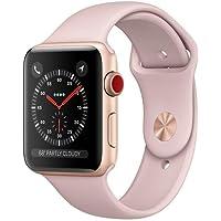 Apple Watch Series 3 42mm Smartwatch (GPS + Cellular, Gold Aluminum Case, Pink Sand Sport Band) (Refurbished)