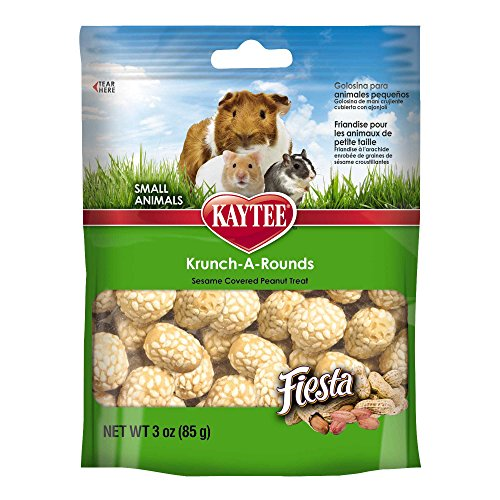 Kaytee Fiesta Krunch-A-Rounds Treat for Small Animals, 3-oz bag 51zAYb0XgIL