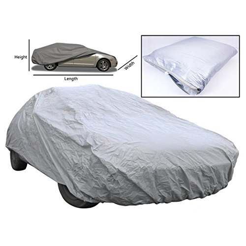WINOMO Universal Full Car Cover Waterproof UV Protection Outdoor Indoor Breathable Size L (Boca La Furniture)