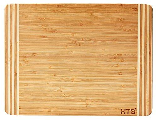 Bamboo Utility Board - HTB Bamboo Cutting Board,Organic Kitchen Chopping Boards,For Bread,Cheese,Meat,Veggies,Bar board 02L