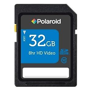 Polaroid 32 GB SDHC Flash Memory Card P-SDHC32G10-EFPOL