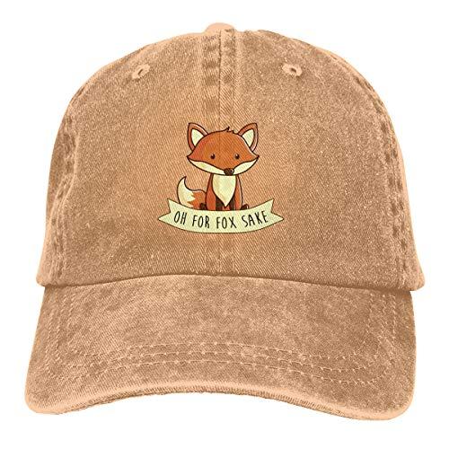 Pineapple Sake - Wqi Home Oh for Fox Sake Men Women Denim Baseball Caps Hat Adjustable Dad Hat Low Profile Outdoor