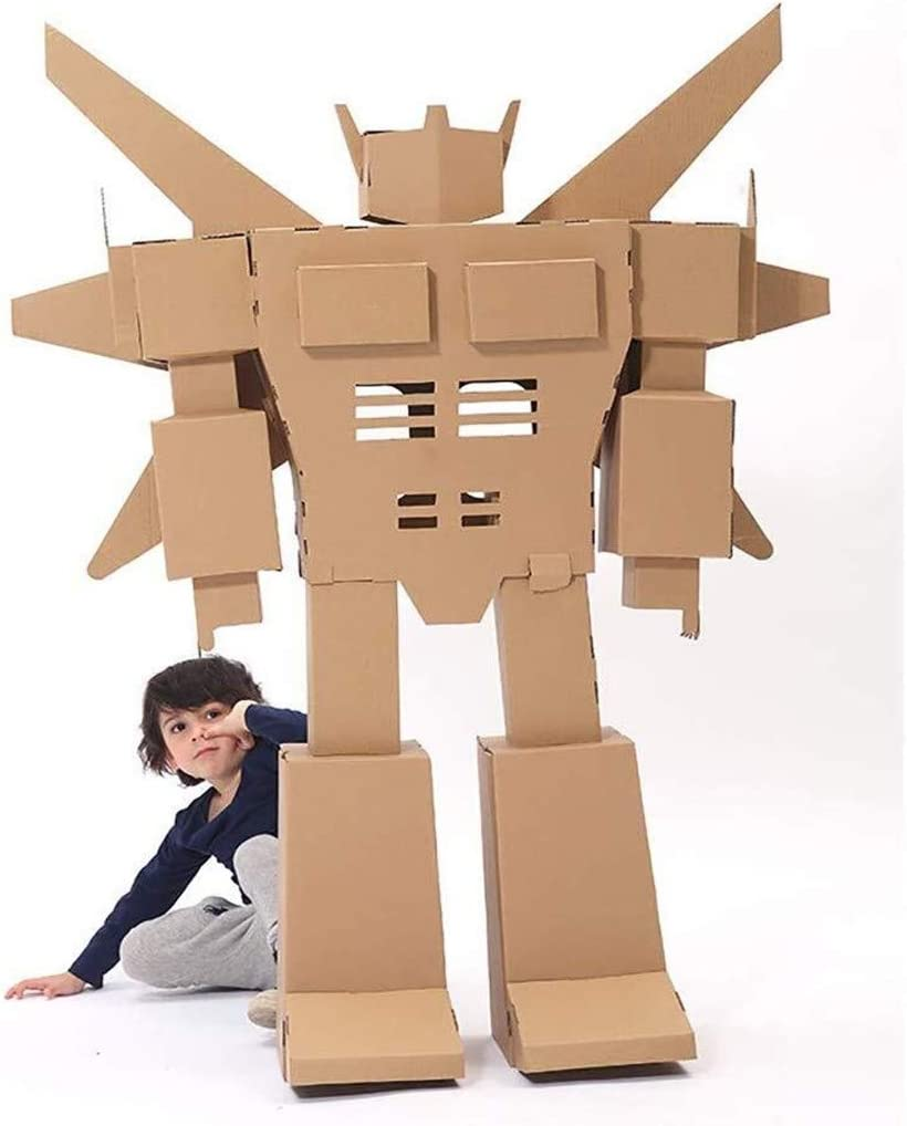 Mini maisonnette en carton 3D pour enfants robot