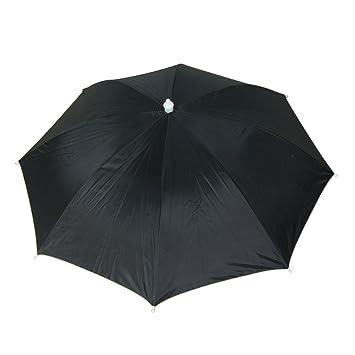 Sourcingmap 43cm Length Stretchy Headband Black Polyester Handsfree Umbrella  Hat 2cbaff38f3d