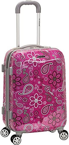 Rockland Vision Hardside Spinner Wheel Luggage, Bandana, Carry-On 20-Inch