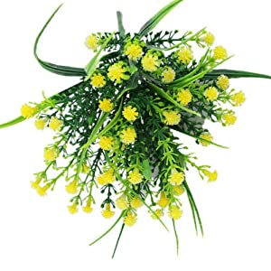 FidgetGear Artificial Fake Baby's Breath Gypsophila Flowers Bouquet Home Wedding Decor Yellow 111