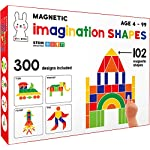Play Poco Magnetic Imagination Shapes – with 102 Magnetic Shapes, 2 Magnetic Boards, 300 Design Booklet, 2 Display Stands