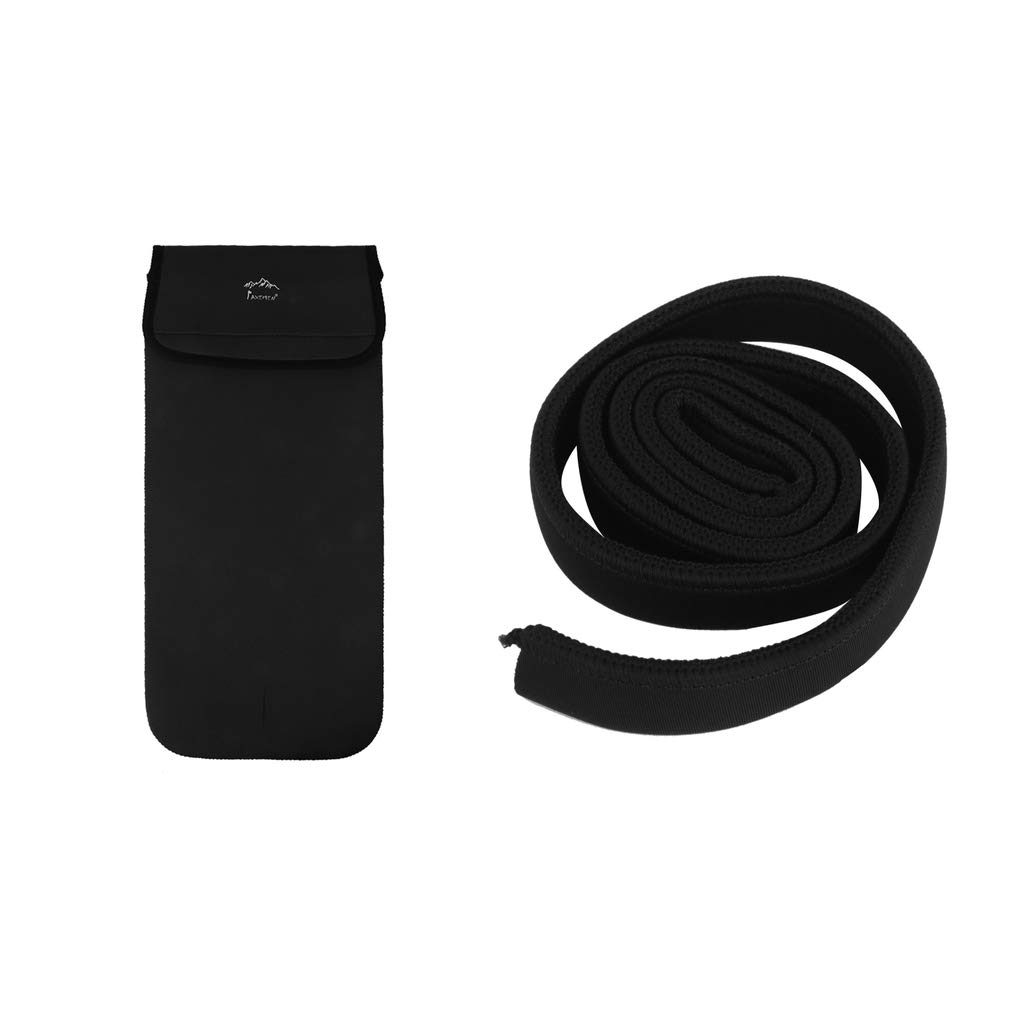 Baoblaze Water Bladder Bag Hydration Pack Insulation Pipe Tube Sleeve + Storage Pouch carry bag cover protector black