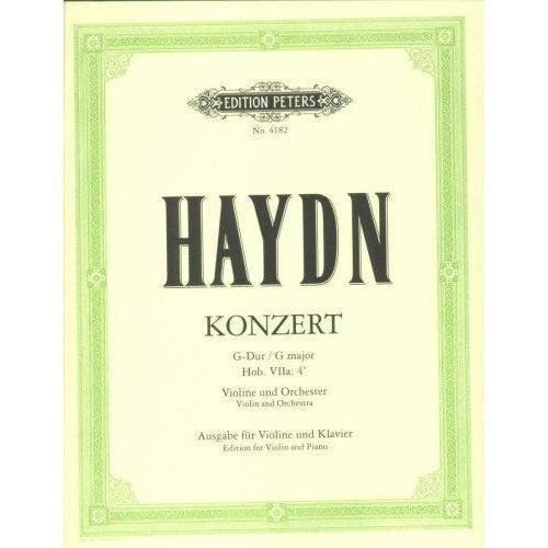 Haydn Franz Joseph Concerto No2 in G Major Hob VIIa:4 Violin and Piano by Ferdinand Kuchler Peters